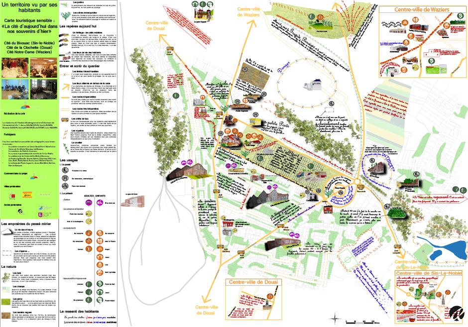 carte touristique ZUS minière - étape de travail